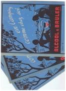 LOT  PROTEGE CAHIER  ALCOOL à  BRULER  EN CAMPING COMME CHEZ SOI - Buvards, Protège-cahiers Illustrés