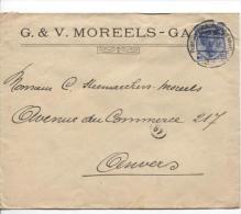 TP Oc 31 S/Lettre Publicitaire De G.&V. Moreeld à Gand C.Post...en 1918 PR957 - [OC26/37] Staging Zone
