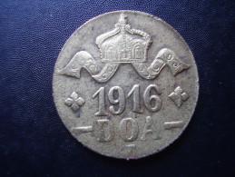 DOA  1916 EMERGENCY TABORA COINS 20 HELLER BRASS TYPE  ´A-B´. - Afrique Orientale Allemande