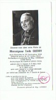 SOUVENIR  MONSEIGNEUR EMILE GUERRY ARCHRVEQUE DE CAMBRAI (NORD) 1969 - Imágenes Religiosas