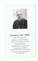 SOUVENIR De MONSEIGNEUR HENRI JENNY Décédé Le 08 03 1982 - Imágenes Religiosas