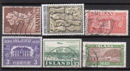 Lot De 6 Timbres Oblitérés - ISLANDE - Collections, Lots & Séries
