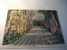 STORIA POSTALE TIMBRO ROSSO COLOMBIA Quinta De Bolivar Bogota Entrance Of The Country House - Colombia