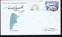 Italy, Visita Del Presidente Gronchi A Argentina, Cancel From  Baires, Sa 918 - F.D.C.