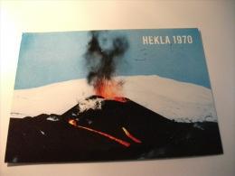 STORIA POSTALE FRANCOBOLLO COMMEMORATIVO Islanda Hekla 1970 - Islanda