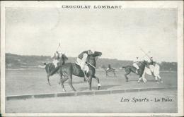 SPORT / Les Sports - LE POLO (PUB CHOCOLAT LOMBART) - Hippisme