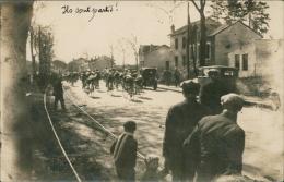 """CYCLISME / SUPERBE CARTE PHOTO Départ D'une Course Cycliste !! écriture Manuscrite :""""Ils Sont Partis!"""" - Cyclisme"""