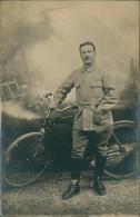 CYCLISME / Militaire? En Costume Devant Beau Vélo ! TRES BELLE CARTE Glacée! - Cyclisme