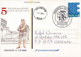 Poland, 2014. Centenary Of Siege Of Przemysl Fortress, WWI, Balloon Post (1914 In Przemysl First Balloon Post Ever). - 1. Weltkrieg
