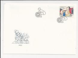 Lettre De Tchécoslovaquie De 1993 - FDC - Enveloppe - Pesistica