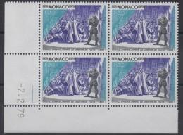 MONACO - YT N° 1176  Bloc De 4 Coin Daté - Neuf ** - MNH - Neufs