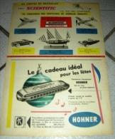 FEUILLET PUBLICITAIRE SUPPLEMENT TINTIN PUBLIART HARMONICA HOHNER SCIENTIFIC BRUXELLES - Collections