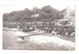 THE SHRUBBERY  WESTCLIFF-ON-SEA LOTS OF ROWING BOATS BEACH SCENE AND SEASIDE SHOP - Southend, Westcliff & Leigh