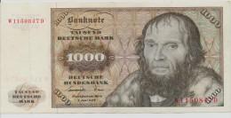 GERMANY FEDERAL REPUBLIC P. 36a 1000 M 1977 VF/XF - [ 7] 1949-… : FRG - Fed. Rep. Of Germany
