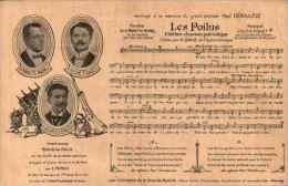 Militaria Illustré 191 - Chanson Et Partition Les Poilus De G David - Guerre 1914-18