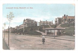 WESTCLIFF ON SEA  UNDERCLIFF DRIVE USED 1908 SOUTHEND ESSEX - Southend, Westcliff & Leigh