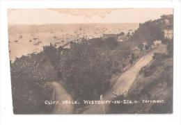 RP Cliff Walk  Westcliff On Sea Circa 1910 Real Photo Card ESSEX PHOTO CARD - Southend, Westcliff & Leigh