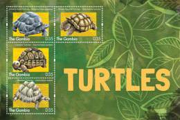 GAMBIA ; SCOTT # 3483 ; IGPC1309 SH ; MINT N.H STAMPS ( TURTLES - Gambia (1965-...)