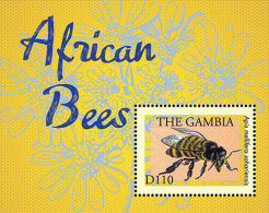 GAMBIA ; SCOTT # 3504 ; IGPC1316 S ; MINT N.H STAMPS ( INSECTS ; BEES - Gambia (1965-...)