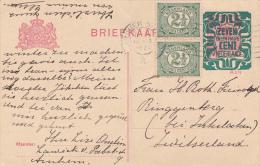 NEDERLAND : Entier Postal Avec Affranchissement Complémentaire, Oblitéré ARNHEM Le 16 Oct 1922, à Dest. De Interlaken - Entiers Postaux