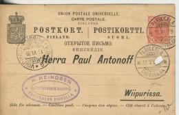 Parikkala V. 1899 Siehe Foto !!  (014Karte) - Finland