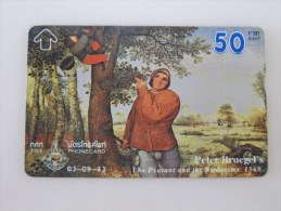 L&Gyr Optical Phonecard,painting Of Peter Bruegel's,used - Thaïlande