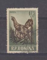 1956, GIBIERS,  YV No 1446  Et MI No1573  Coq De Bruyere / Tetrao Urogallus - Gebraucht