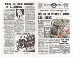 TRACT AERIEN RAF LE COURRIER DE L'AIR 1942 N°17 JOURNAL PARACHUTE OU DISTRIBUE AVIATION - Luchtvaart