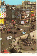 London: FORD THAMES 800 ESTATE CAR, CITROËN DS, AUSTIN A30 VAN, DOUBLE-DECKER BUS 'The Beatles' Neon - Piccadilly Circus - Passenger Cars
