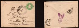 Brasil: Bonito Sobre Entero Postal De 100 Reis (1893) - Brasil