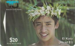 COOK ISLANDS G.P.T. - 4 - TIARE MAORI Cn. 02CID - Isole Cook