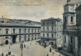 CALTANISSETTA PALAZZO MUNICIPALE E CAMERA DI COMMERCIO 1952 - Caltanissetta