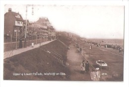 RP WESTCLIFF ON SEA Nr Southend Upper & Lower Parade POSTED 1908 ESSEX PHOTO CARD - Southend, Westcliff & Leigh