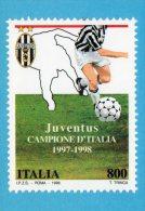 [DC0248] CARTOLINEA - JUVENTUS - CAMPIONE D'ITALIA - JUVENTICINQUE - RIPRODUZIONE DEL FRANCOBOLLO EMESSO - Calcio