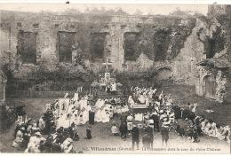 VILLANDRAUT La Procession  Dans Le Château Timbrée Excellent état - Tarbes