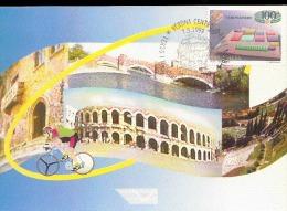 """CARTOLINA CON ANNULLO """"SPECIALE VERSO I MONDIALI DI CICLISMO DI VERONA 1999 - Ciclismo"""