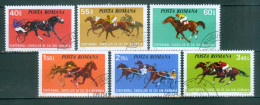Rumänien - Mi-Nr. 3182 - 3187 - 100 Jahre Pferderennen In Rumänien Gestempelt - Pferde