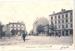 VILLEURBANNE  Place De La Cité TB (taches Rousseurs) Timbrée - Villeurbanne
