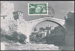 "Yugoslavia 1951, Maximum Card ""Mostar - Old Bridge"", Ref.bbzg - Maximum Cards"