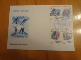 2014 Envelope Azerbaijan Sochi Olimpic - Azerbaïdjan