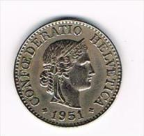 ¨ ZWITSERLAND  10 RAPPEN  1951 - Switzerland