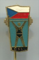 WEIGHTLIFTING - CSSR, Pin, Badge - Weightlifting