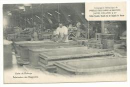 21- CPA  - POUILLY SUR SAONE - JACOB DELAFON - Fabrication Des BAIGNOIRES BELVOYE ( COTE D´OR ) Céramique RARE - France