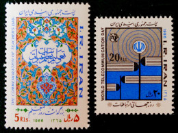 JOURNEE DES ENSEIGNANTS & JOURNEE DES TELECOMS 1986 - NEUFS ** - YT 1972/73 - MI 2159/60 - Iran