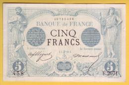 BILLET FRANCAIS - 5 Francs Noir 5.6.1873 TTB+ - 1871-1952 Anciens Francs Circulés Au XXème
