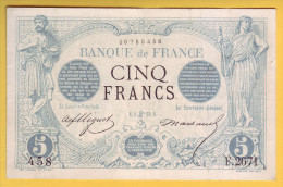 BILLET FRANCAIS - 5 Francs Noir 5.6.1873 TTB+ - 1871-1952 Antichi Franchi Circolanti Nel XX Secolo