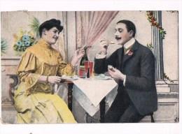 22610 ( 2 Scans ) Femme Et L´homme De Boire Du Champagne - Woman And Man Drinking Champagne - Donne