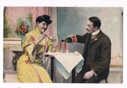 22612 ( 2 Scans ) Femme Et L´homme De Boire Du Champagne - Woman And Man Drinking Champagne - Donne