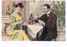 22613 ( 2 Scans ) Femme Et L´homme De Boire Du Champagne - Woman And Man Drinking Champagne - Donne