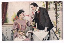 22614 ( 2 Scans ) Femme Et L´homme De Boire Du Champagne - Woman And Man Drinking Champagne - Donne